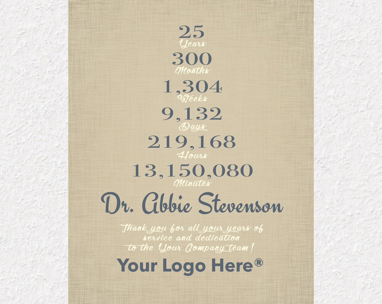 25 Year Work Anniversary Gift Employee Gift Employee Appreciation Gift Gift For Co Personalized Retirement Gifts Employee Gifts Employee Appreciation Gifts