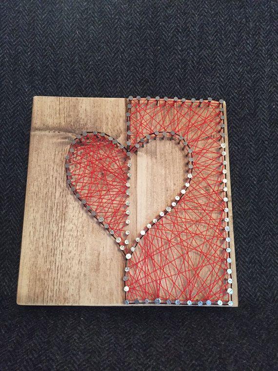 Love Heart String Art Yw String Art Love Heart Art