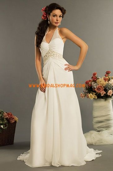 Embroidered Empire Waist Wedding Dresses