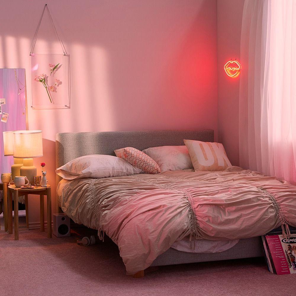 aesthetic bedroom pink bedroom