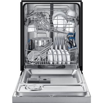 Samsung 24 In Front Control Dishwasher In Stainless Steel With Stainless Steel Tub 50 Dba Dw80j3020us The Home Depot Steel Tub Samsung Dishwasher Tub