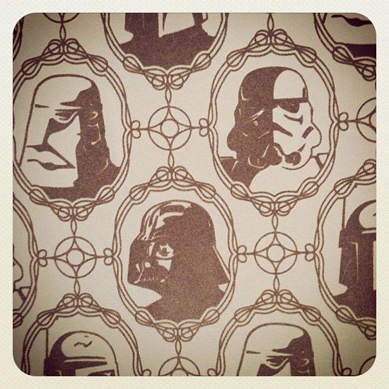 Star Wars Flocked Wallpaper.