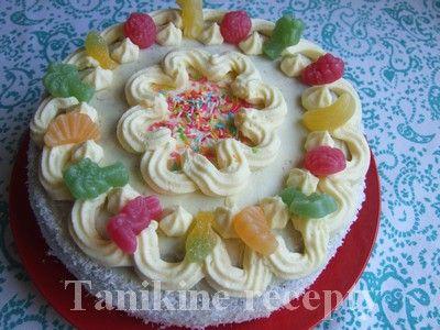 Kokosovo - tvarohová torta :: Recepty
