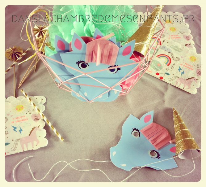 diy free printable tuto tutoriel papier paper masque licorne poney
