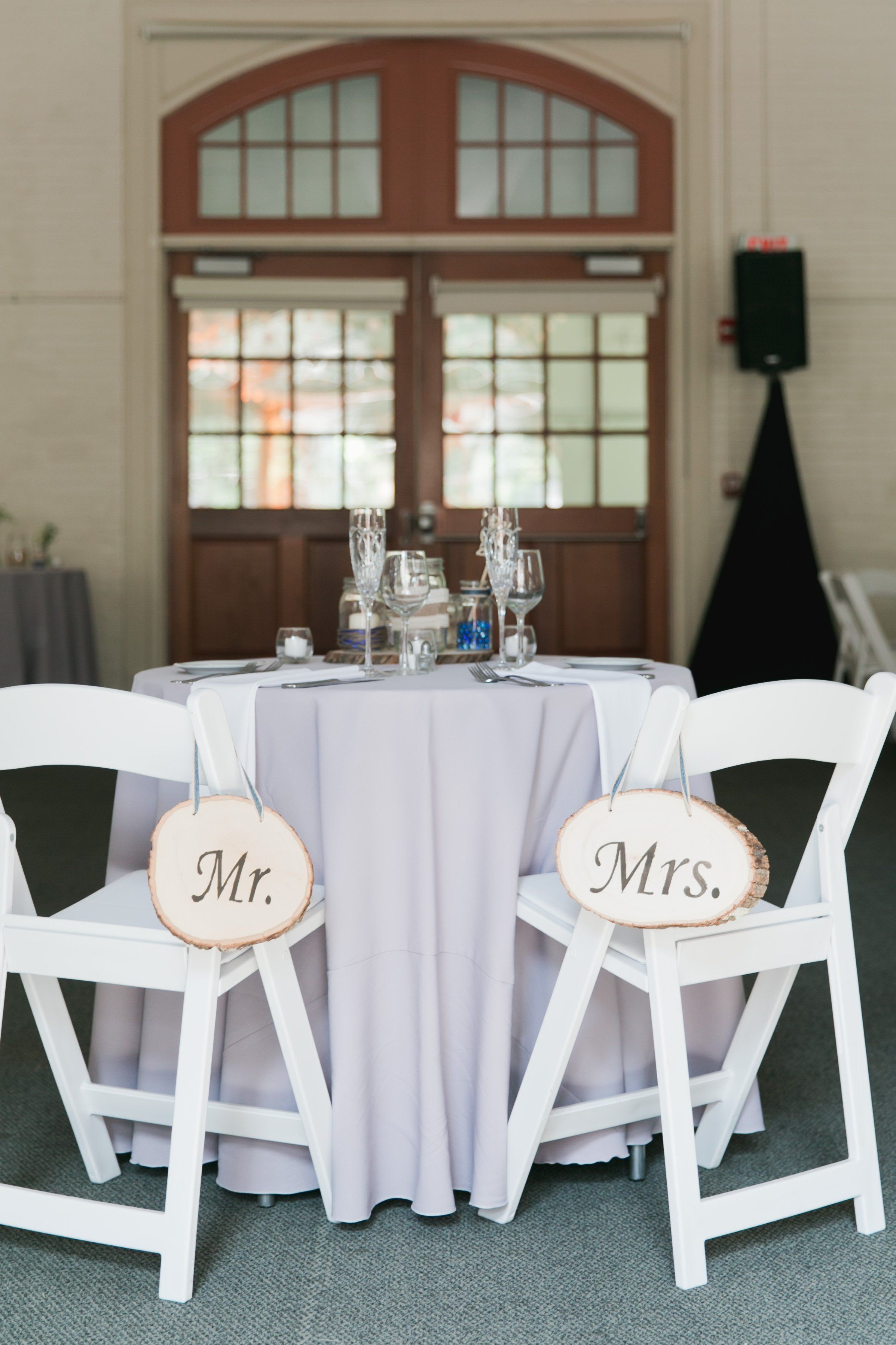 Melanie And Matt S Wedding At The Gardens At Elm Bank Wedding Chair Signs Wedding Chairs