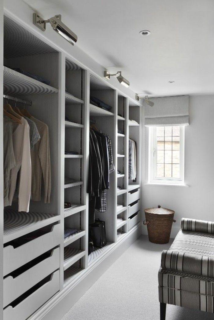 Begehbarer Kleiderschrank Selber Bauen Weiss Grau Neutrale Farben
