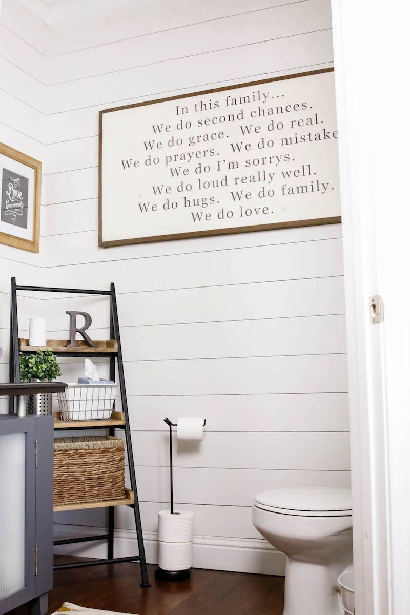 DIY SHIPLAP TUTORIAL | HOW TO DIY A WHITE WOOD WALL | EASY ...
