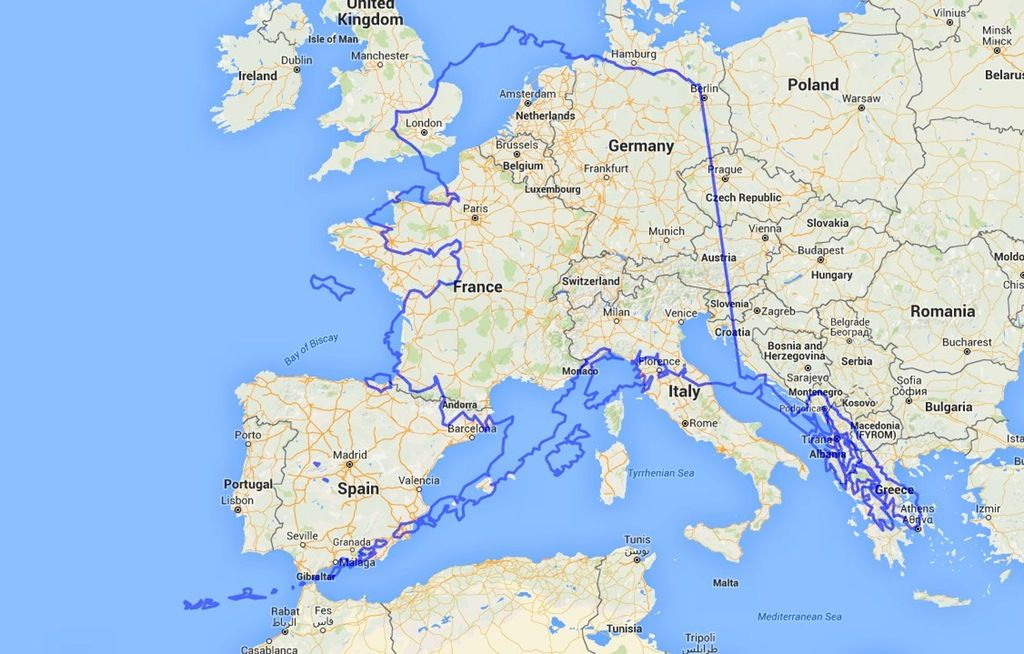 Alaska vs. Western Europe without Mercator projection distortion ...