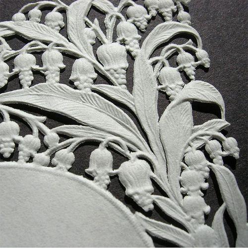 vintage paper die cut lily of the valley