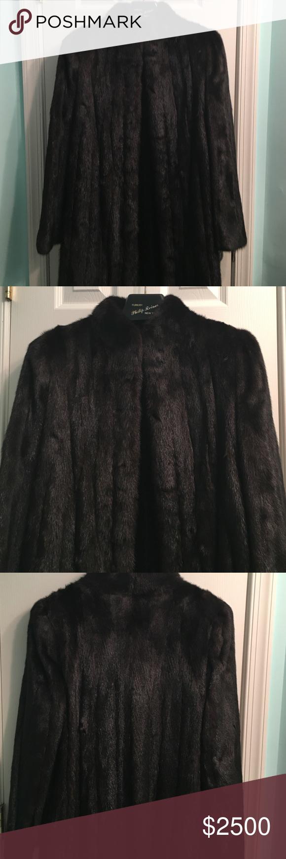 Full length Black Mink coat Full length Black Mink coat custom ...