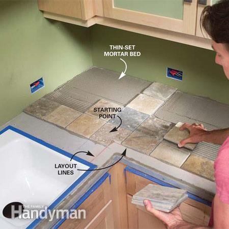 installing tile countertops | home | pinterest | tile countertops