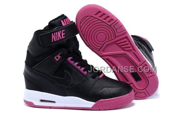 Women NK Height Increasing Shoes Black