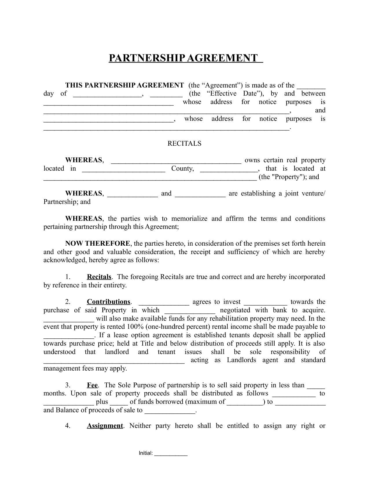 Partnership Agreement 0