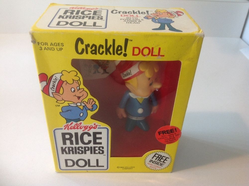 New Sealed 1984 Kellogg's Rice Krispies Crackle Doll Original Package
