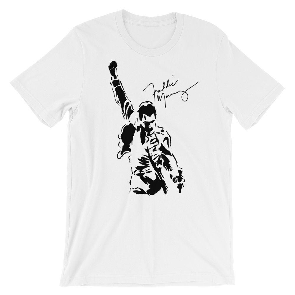 79e442cc Freddie Mercury Signature Unisex T-Shirt, Queen Rock Band Tshirt, Farrokh  Bulsara Tee #Shirtoftheday