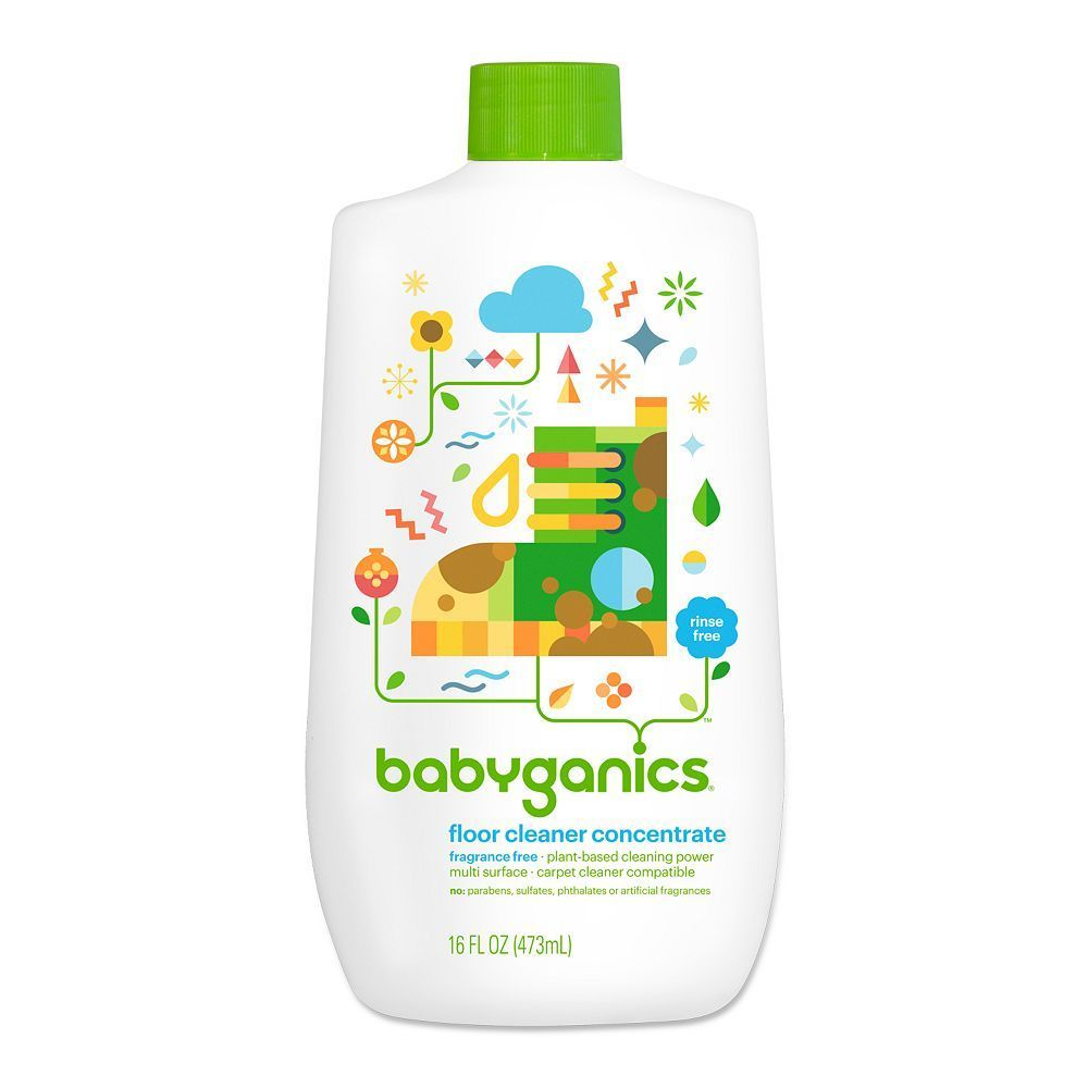 Babyganics 16 Oz Fragrance Free Floor Cleaner Concentrate White