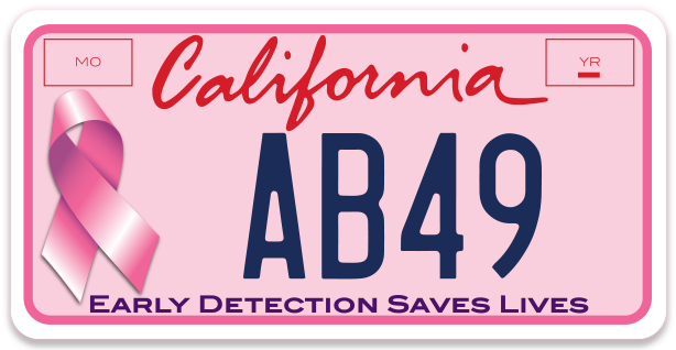 Join the Cause!       Assembly Bill 49 is the legislation proposed by Assemblymember Buchanan that needs to be signed into law in order for the California Pink Plate to become a reality.