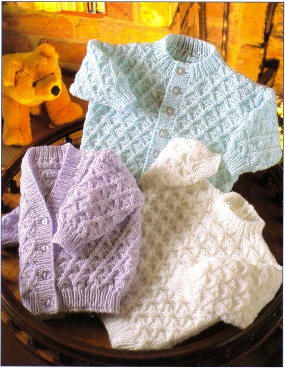 Baby Boy Girl Cardigans Sweater Knitting Pattern Knit Baby Cardigan ...