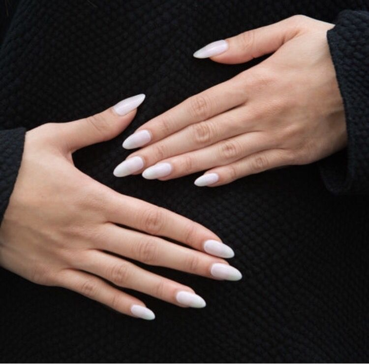 Pinterest Beecarise Nails White Coffin Nails Kylie