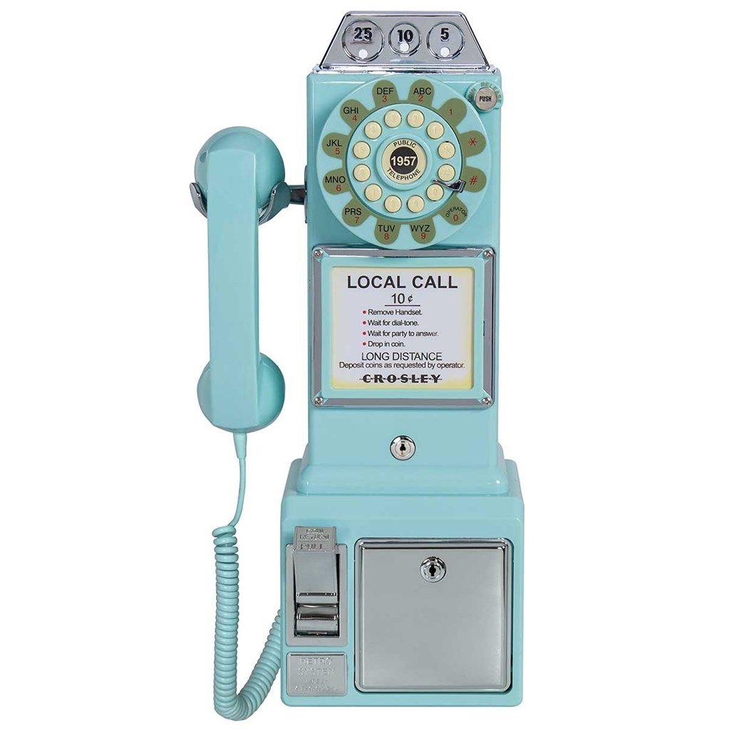 Crosley 1950 S Payphone Light Blue Cracker Barrel Pay Phone Cool Things To Buy Aqua Blue