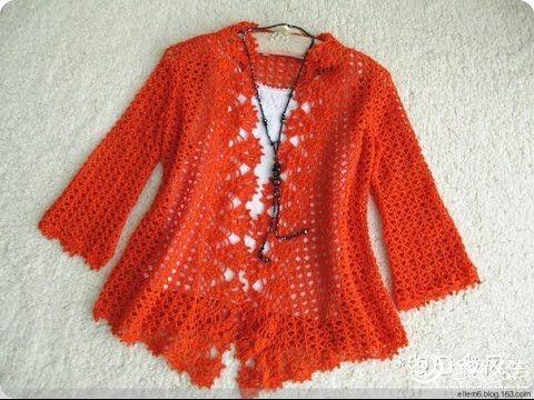 Chaqueta niпїЅa crochet