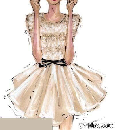 رسم تصاميم فساتين طويله وقصيره للسهرات Fashion Design Fashion Sketches Fashion Art