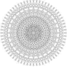 """Moon Heart"" a beautiful free mandala coloring page you"