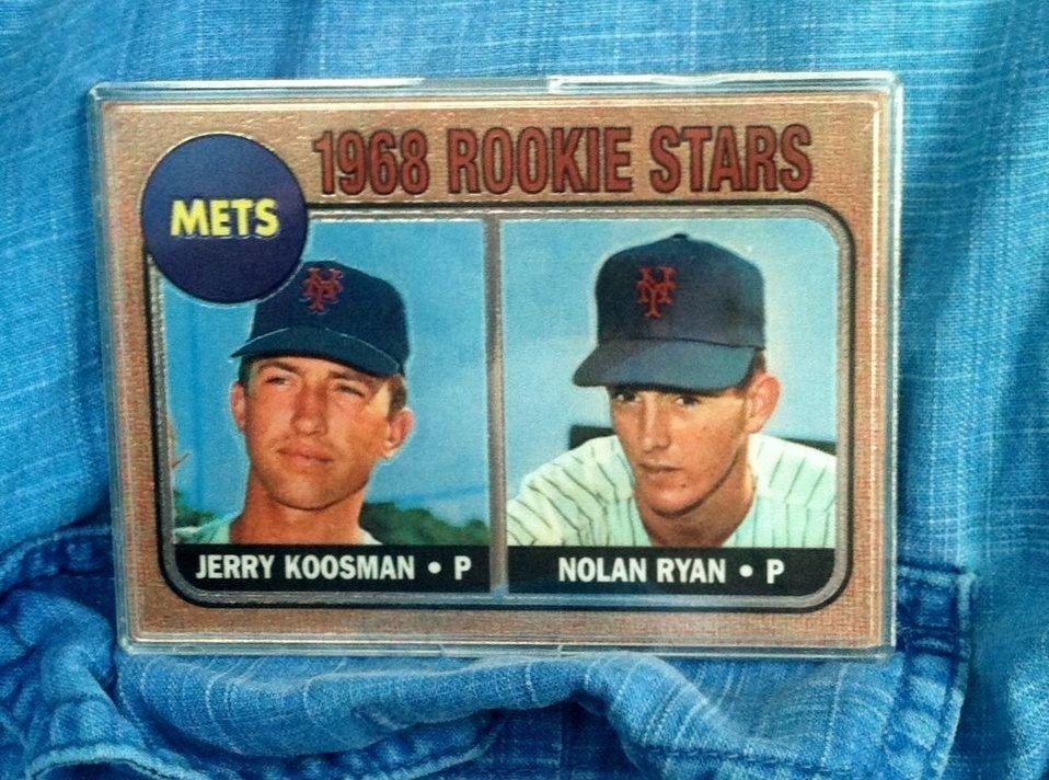 1968 topps nolan ryan rookie reprint refractor by