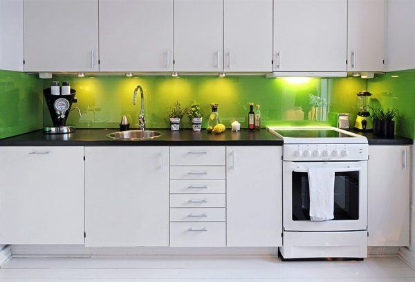 White And Green Kitchen Kitchen Pinterest Green Kitchen