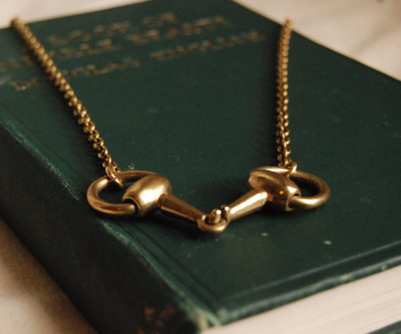 Equestrian-Inspired Chunky Horse Bit Necklace...Modern , Classic and Timeless. Vintage Gucci Chic