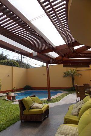 Resultado de imagen para techos de policarbonato techos for Construccion de piscinas en lima