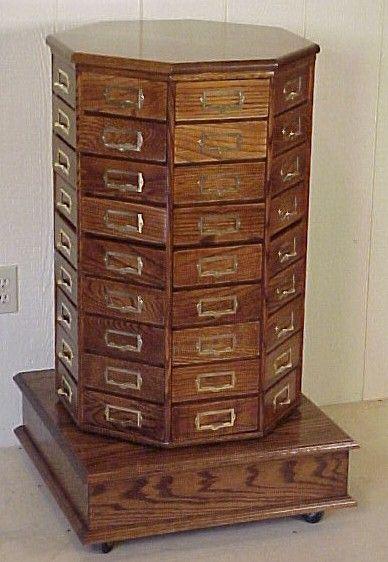 Oak Octagon Revolving Nut Bolt Cabinet Wooden Cabinets Antique Shelves