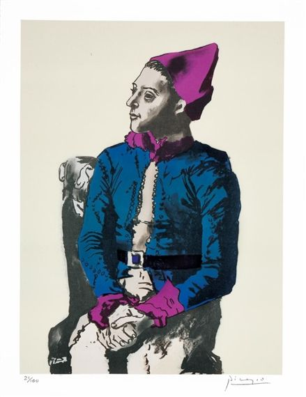 Pablo Picasso, The Seated Harlequin