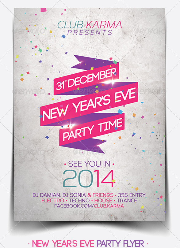 30 Best 2014 New Year Flyer Templates WDT – Event Flyer Templates