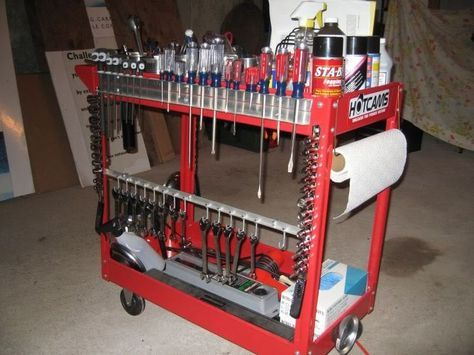 Diy Tool Cart Google Search Tool Cart Tool Box Organization Garage Tools