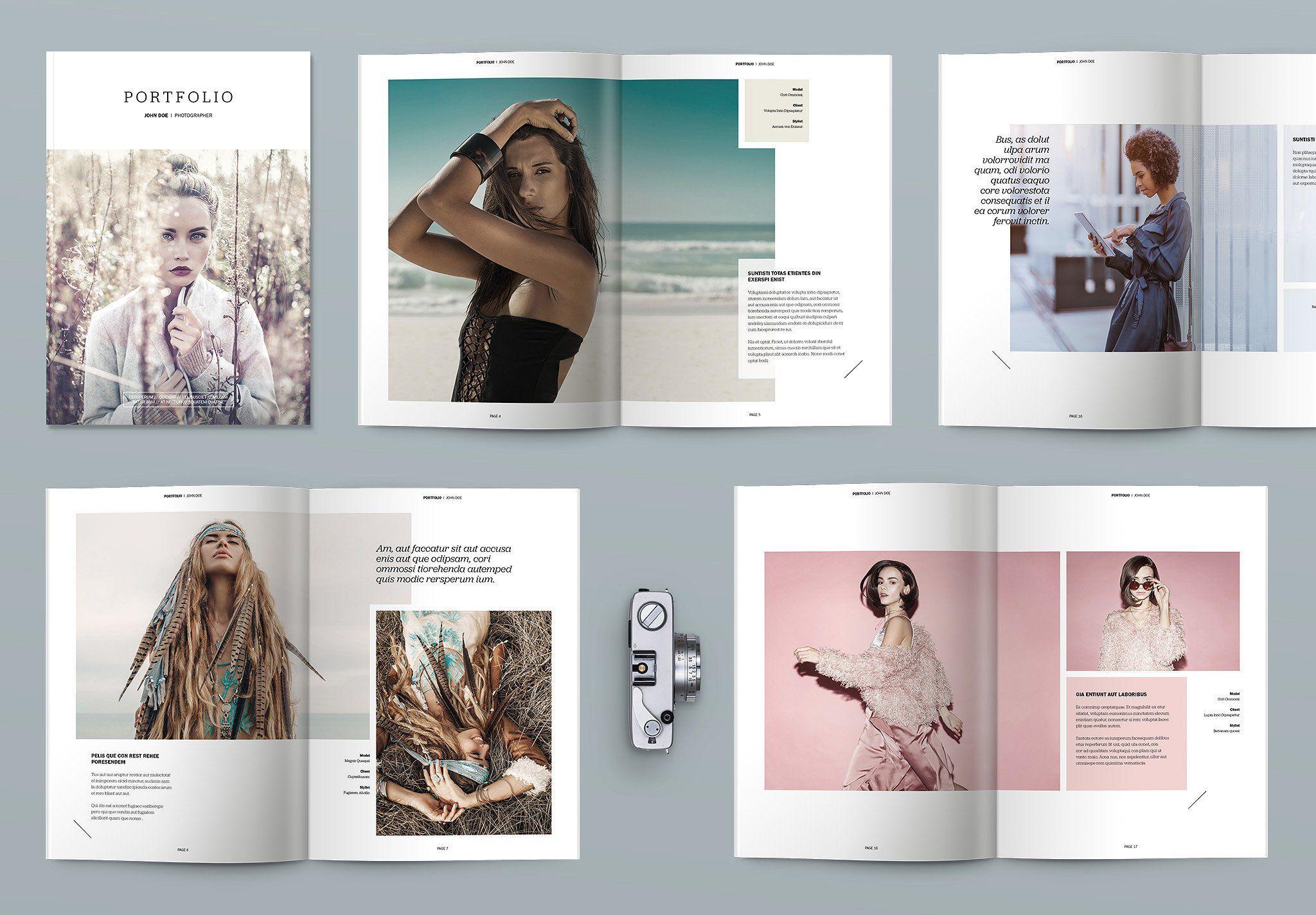 Indesign Portfolio brochure template   Indesign portfolio ...