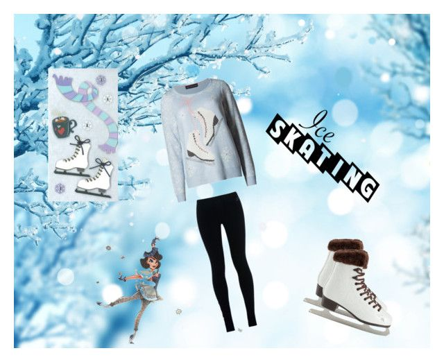 """""""Ice skaters"""" by hiba2002 ❤ liked on Polyvore featuring M&S Collection and NIKE"""