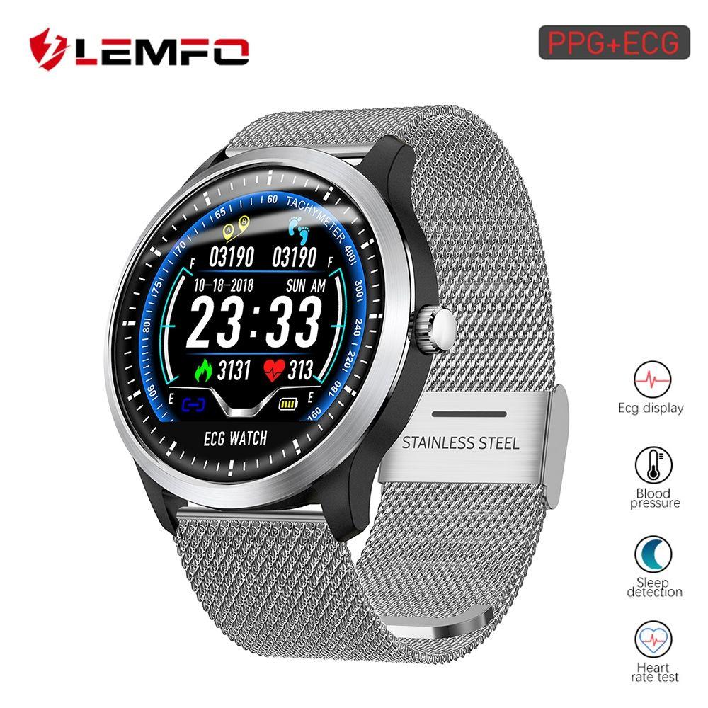 Lemfo 2019 New Ecg Ppg Smart Watch Free Shipping Wooden Onlineshop Home Shopformen Wood Homed Smart Watches Men Smart Watch Heart Rate Monitor Watch