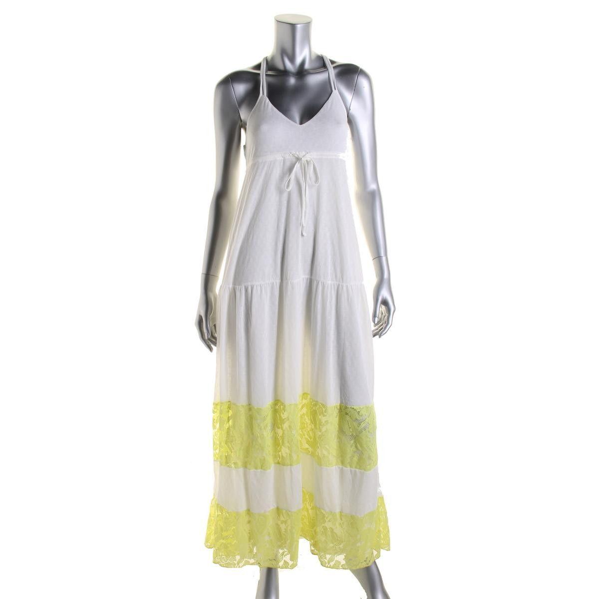 Zara Trafaluc Womens Lace Trim Sleeveless Maxi Dress