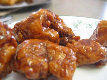 Dr. Pepper Sauced Boneless Wings