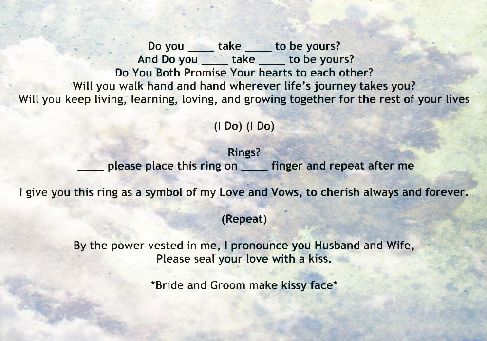 My Non-Religious, Short And Sweet Wedding Ceremony Script