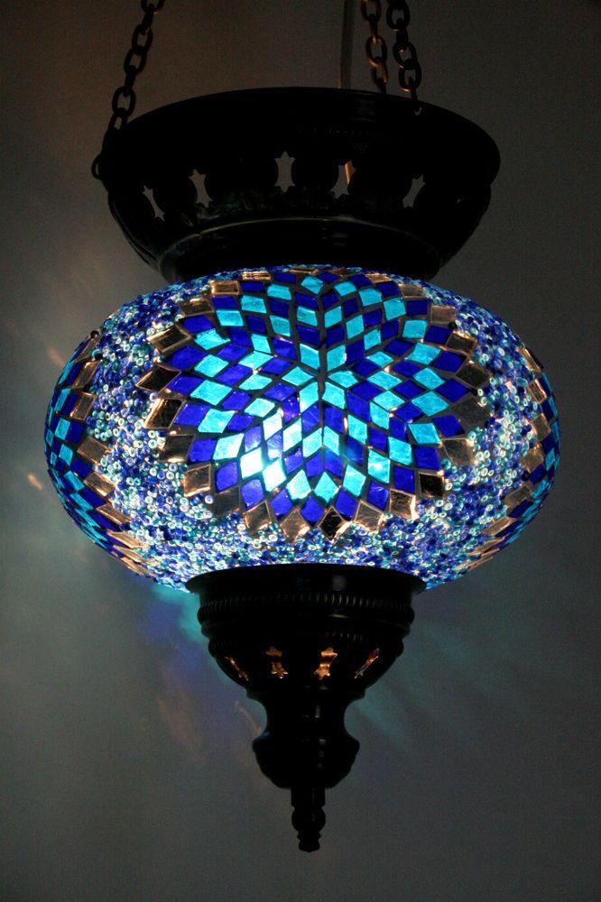 Extra Large Turkish Moroccan Mosaic Hanging Lamp Shade