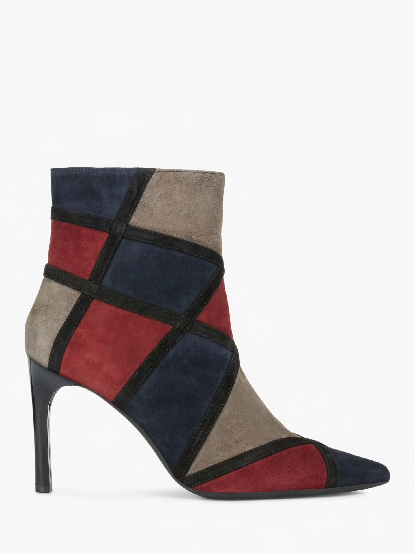 Geox Women's Faviola Suede Ankle Boots, BlueFuchsia | Suede