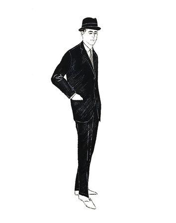 'Male Fashion Figure' c1960 // Andy Warhol