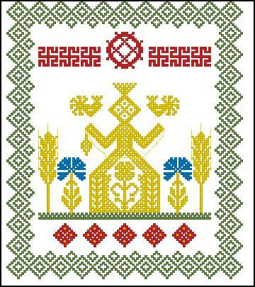 Макошь вышивка крестом схемы бесплатно