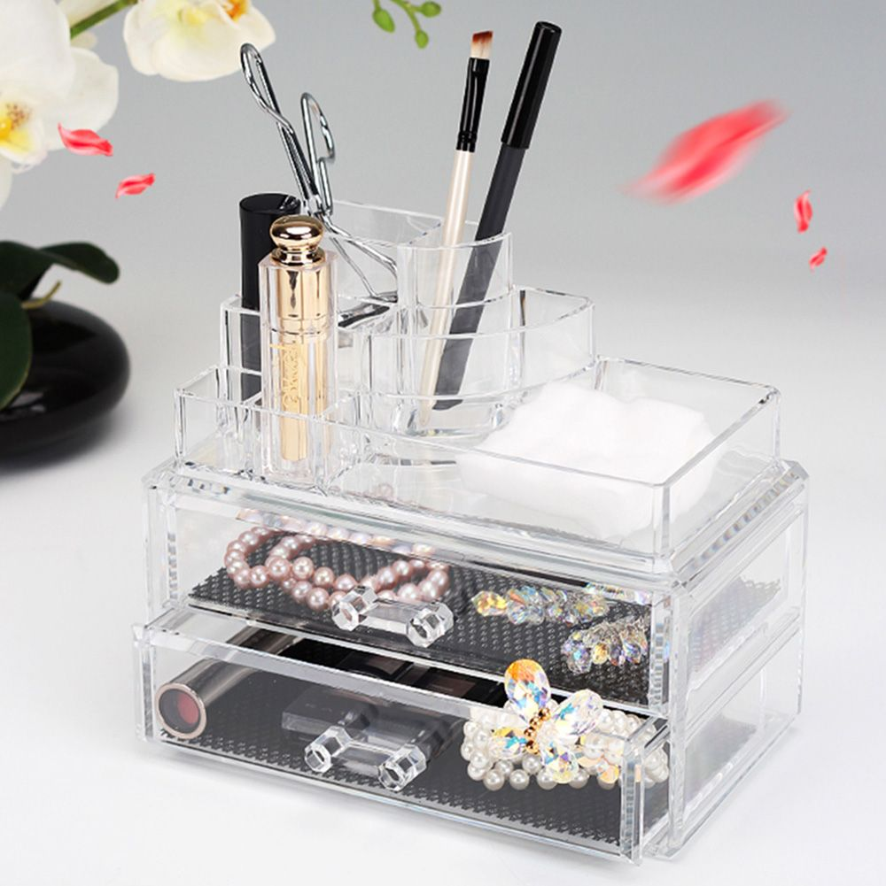 High Quality Clear Acrylic Cosmetic Jewelry Organizer Drawer Makeup
