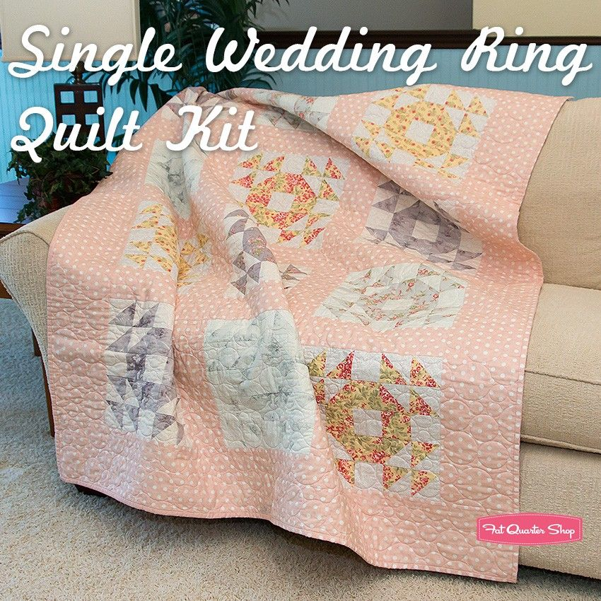 Pin by Lisa Whitlock on patchwork Wedding ring quilt kit