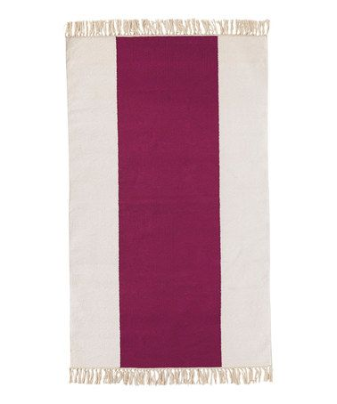 Look what I found on #zulily! Berry Broad Stripe Dhurrie Rug by Serena & Lily #zulilyfinds