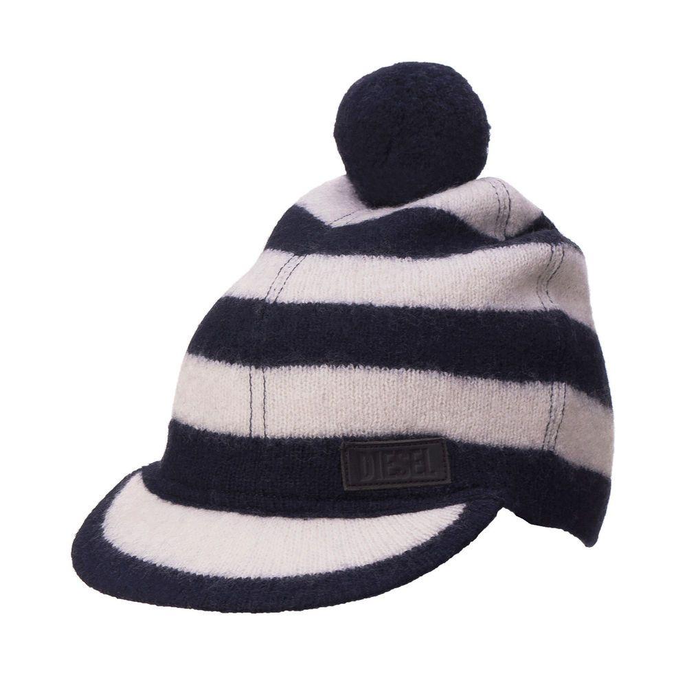 e5fe8307220 RRP 105 DIESEL Size M KOIL-CAP 100% Wool Striped Peak Beanie Cap  fashion   clothing  shoes  accessories  womensaccessories  hats (ebay link)