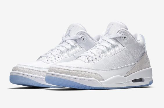 Official Images: Air Jordan 3 Triple White (Pure White) Jordan Brand is  dropping an all-white Air Jordan 3 this Summer continuing the ico… |  Pinterest